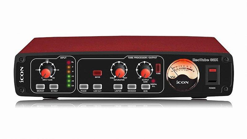 iCON REOTUBE G2X -Pré-amplificador Valvulado para Microfone e Instrumento