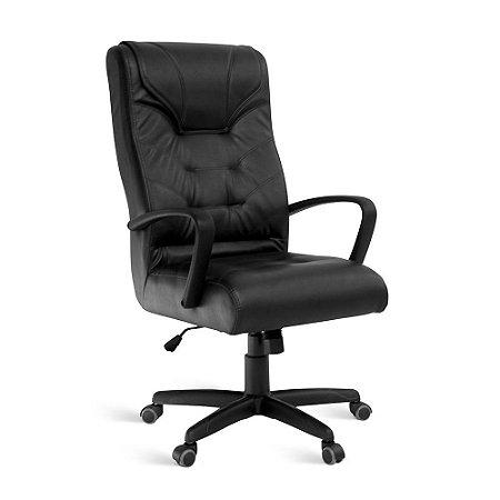 Cadeira Presidente para Escritório Linha Brescia Preto