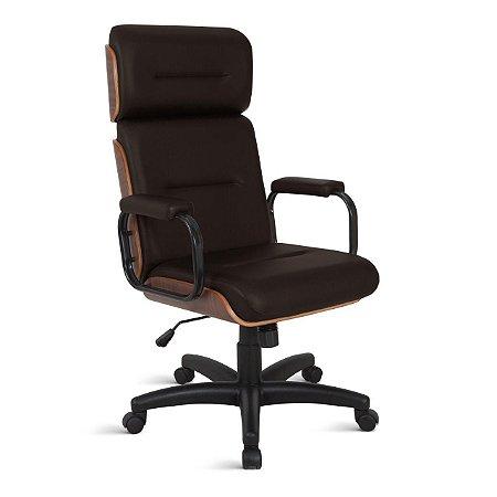 Cadeira Eames para Escritório Linha Capa em Madeira Marrom