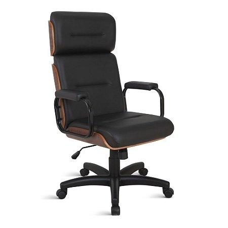 Cadeira Eames para Escritório Linha Capa em Madeira Preto
