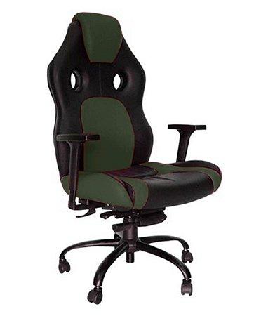 Cadeira Gamer para Escritório Linha Gamer Racing Verde