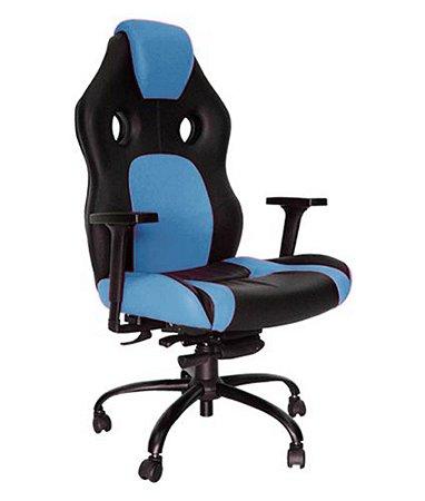 Cadeira Gamer para Escritório Linha Gamer Racing Azul