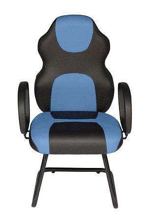 Cadeira Gamer Interlocutor Linha Gamer Racing Azul