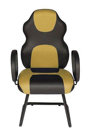 Cadeira Gamer Interlocutor Linha Gamer Racing Amarelo