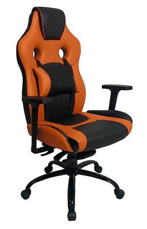 Cadeira Gamer com Almofada Linha Gamer Racing Laranja