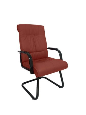 Cadeira Interlocutor para Escritório Linha Itália Marrom