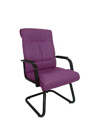 Cadeira Interlocutor para Escritório Linha Itália Roxo