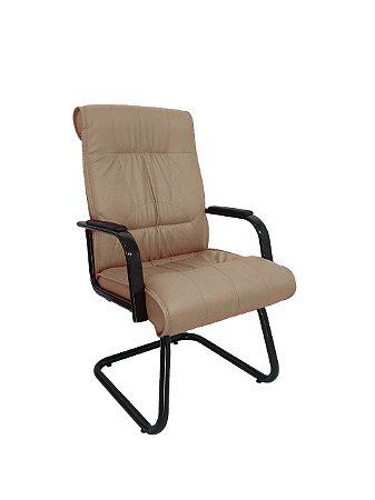 Cadeira Interlocutor para Escritório Linha Itália Bege