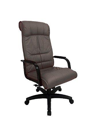 Cadeira Presidente para Escritório Linha Itália Marrom