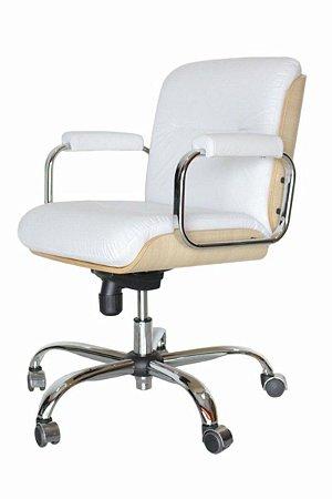 Cadeira Eames Diretor Linha Capa em Madeira Branco