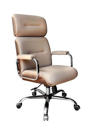 Cadeira Eames Presidente Linha Capa em Madeira Marrom
