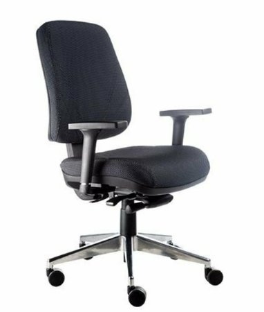 Cadeira Diretor com Base Cromada Linha New Confort Preto
