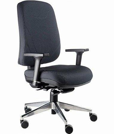 Cadeira Presidente com Base Cromada Linha New Confort Preto