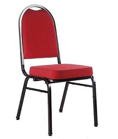 Cadeira Empilhável para Auditórios Linha Hotel Vermelho
