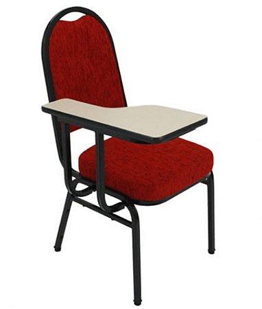 Cadeiras Universitária c pranch para Auditórios Linha Hotel Vermelho