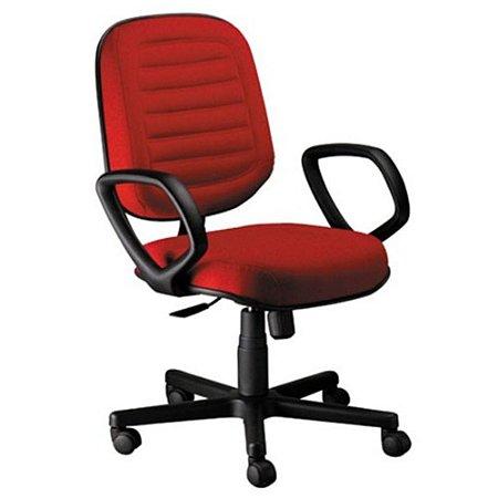 Cadeira Diretor com Braços Linha Blenda Vermelho