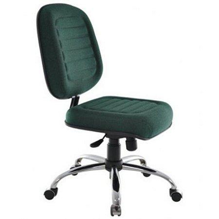 Cadeira Diretor sem Braços Linha Blenda Base Cromada Verde