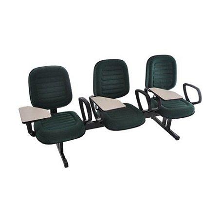 Cadeira Universitária Diretor em Longarina Linha Blenda Verde