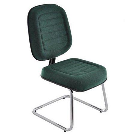 Cadeira Diretor Linha Blenda Base Fixa em S Cromada Verde