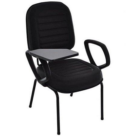 Cadeira Universitária Diretor Linha Blenda Base Fixa Palito Preto