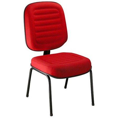 Cadeira Diretor sem Braços Linha Blenda Base Fixa Palito Vermelho
