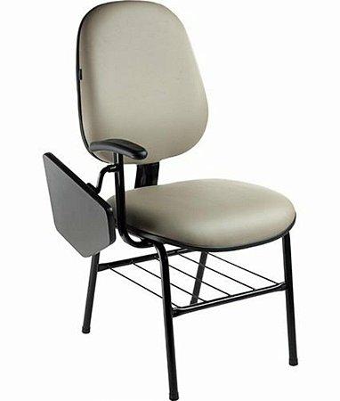 Cadeira Universitária com prancheta fixa Linha Siena Lisa Cinza