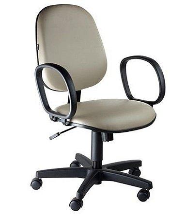 Cadeira Executiva com Braços Linha Siena Lisa Cinza
