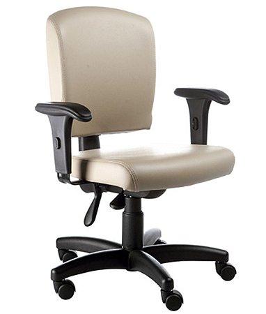 Cadeira Executiva Luxuosa com Braços Fixos Linha Alpha Bege