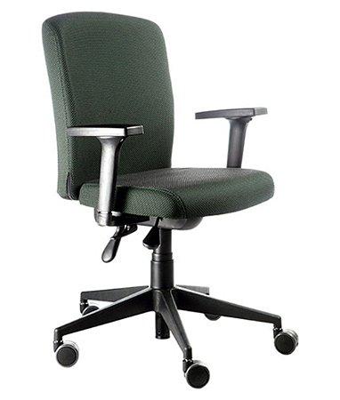 Cadeira Diretor  Espaldar Baixo Linha Alpha Verde