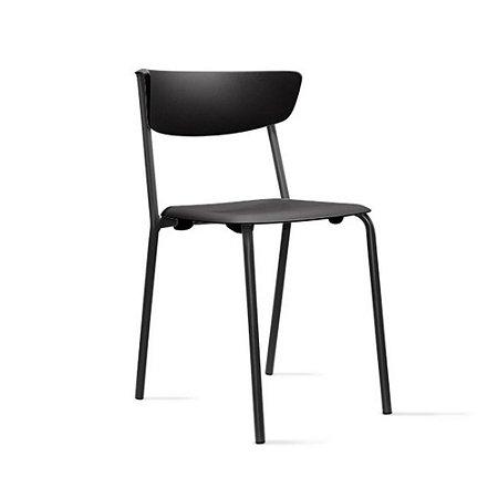 Cadeira em Polipropileno Linha Banqueta Escritório Smart Preto
