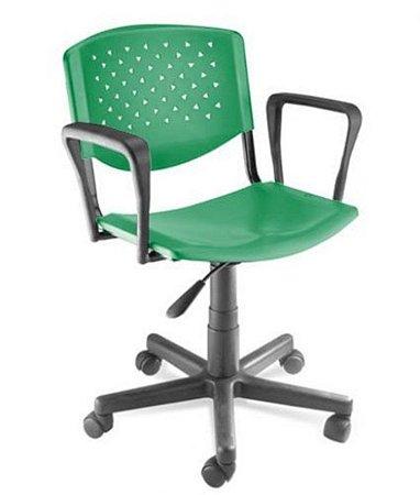 Cadeira Giratória com Braços Linha Polipropileno Atenas Verde