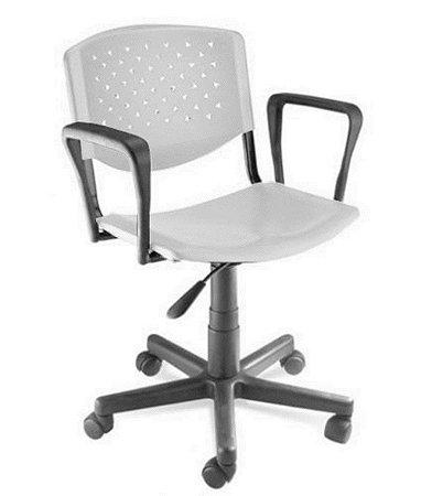 Cadeira Giratória com Braços Linha Polipropileno Atenas Branco