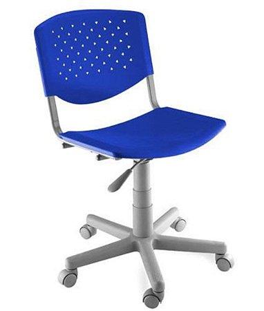 Cadeira Giratória Linha Polipropileno Atenas Azul