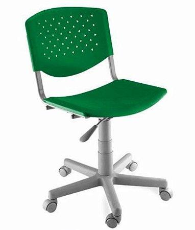 Cadeira Giratória Linha Polipropileno Atenas Verde