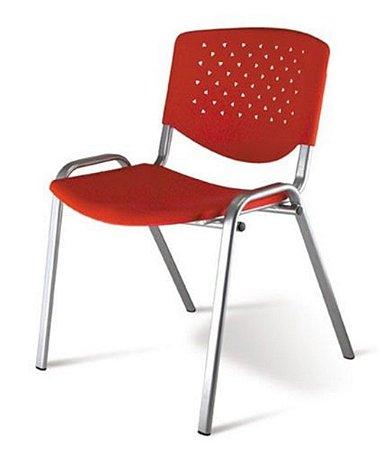 Cadeira Empilhável Linha Polipropileno Atenas Vermelho