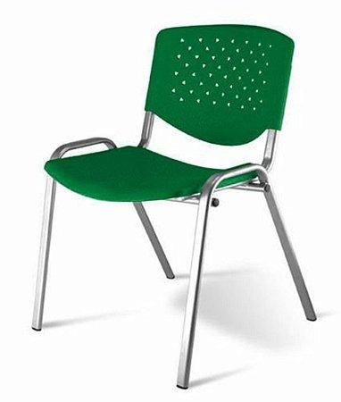 Cadeira Empilhável Linha Polipropileno Atenas Verde
