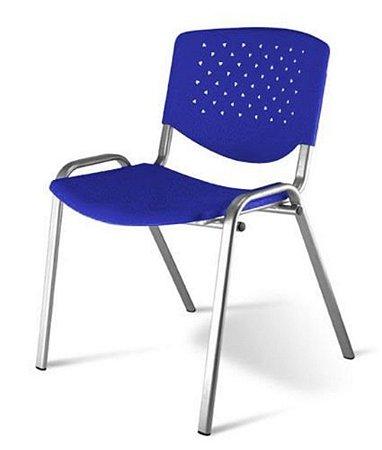 Cadeira Empilhável Linha Polipropileno Atenas Azul