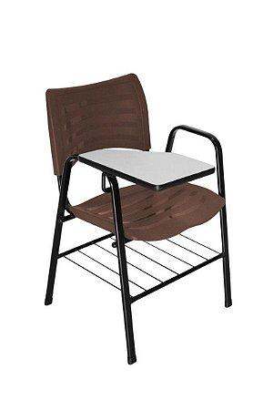 Cadeira Iso com Braço Linha Polipropileno Iso Universitária Marrom