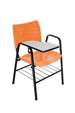 Cadeira Iso com Braço Linha Polipropileno Iso Universitária Laranja