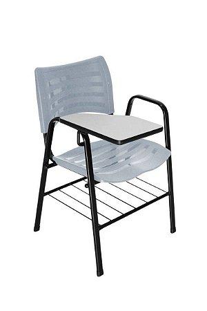Cadeira Iso com Braço Linha Polipropileno Iso Universitária Cinza