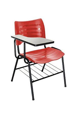 Cadeira Iso Linha Polipropileno Iso Universitária Vermelho