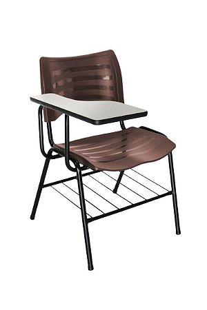 Cadeira Iso Linha Polipropileno Iso Universitária Marrom