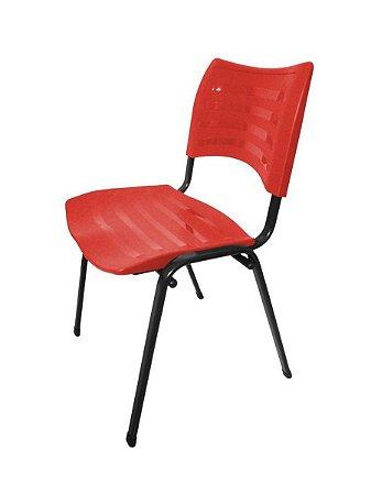 Cadeira Empilhável Iso Linha Polipropileno Iso Vermelho