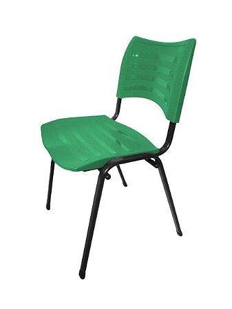 Cadeira Empilhável Iso Linha Polipropileno Iso Verde