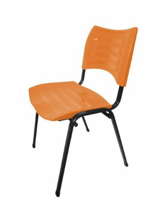 Cadeira Empilhável Iso Linha Polipropileno Iso Laranja