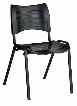 Cadeira Empilhável Iso Linha Polipropileno Iso Preto