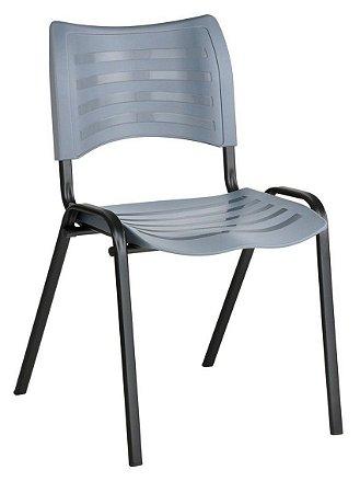 Cadeira Empilhável Iso Linha Polipropileno Iso Cinza