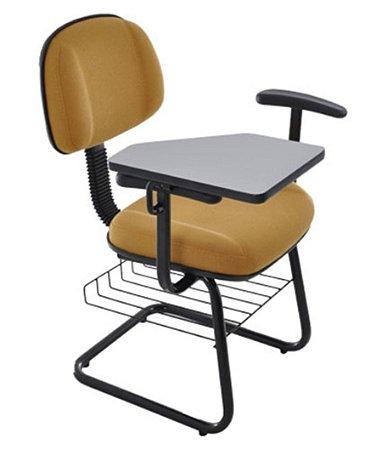 Cadeira Universitária  Secretária Linha Classic Amarelo