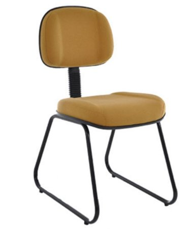 Cadeira  Secretária com Base Fixa Trapézio  Linha Classic Cor Amarelo