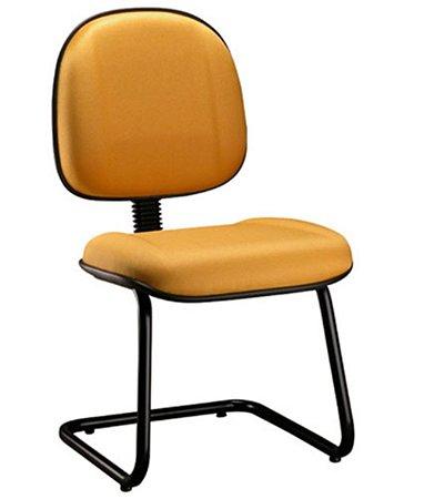Cadeira Gerente com Base Fixa em S Linha Classic Amarelo